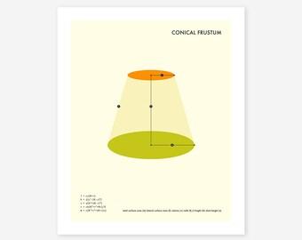 FRUSTUM (Giclée Fine Art Print/Photo Print/Poster Print) Minimal, Geometric Art