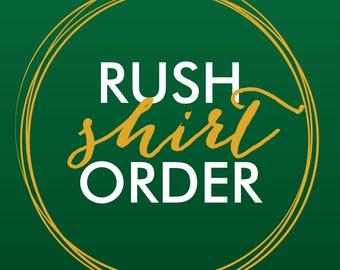 Rush Shirt Order