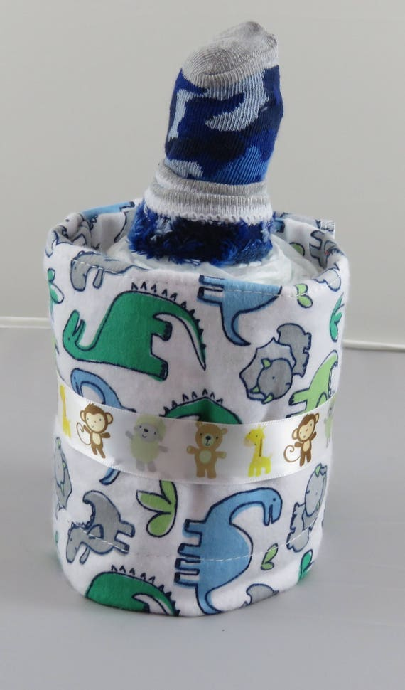 Dinosaur Diaper Bottle Baby Shower Gift