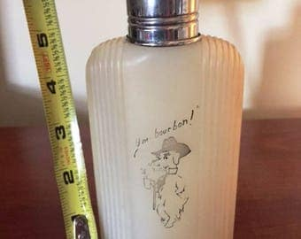 Plastic Flask with Scottie Dog, Hm Bourbon