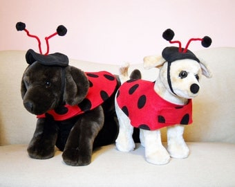 Lady Bug Pet Costume Small and Medium Made to Order Free Shipping