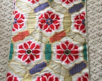 "Anique Gold Brocade Japanese Obi fabric 164"""