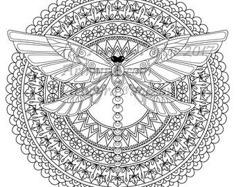 Dragonfly mandala Etsy