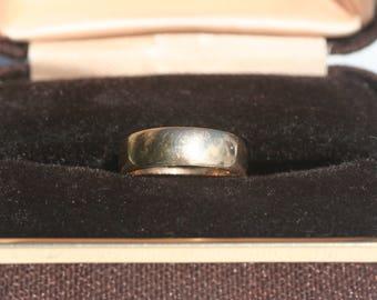 1930's Vintage 9ct 9 Carat Gold Wedding Band Ring 6mm Wide