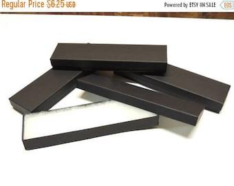 "On Sale 10 Matte Black  8""x2""x1"" Necklace Boxes, Cotton Filled  Presentation Jewelry Boxes, Bracelet Boxes, Necklace Boxes, Kraft Paper Jewe"