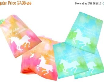 "On Sale 50 Pastel Pink and Blue Unicorn 10"" x 13"" Flat Poly Mailers, Animal Lovers Self Sealing Flat Envelope Mailers, Colored Shipping Mail"