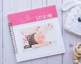 Simple Girl Baby Book. Personalized Baby Book. Baby Book Girl. Baby Shower Gift. Girl Baby Book. Personalized Baby Gift. Baby Book Memory.