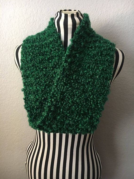 Nature's Green | Soft | Knitted Infinity Scarf — Ready To Ship