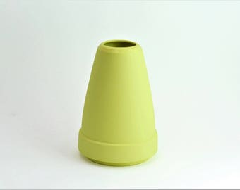 HTL 2060, porcelain vase, contemporary ceramic Vase, minimal design, yellow vase