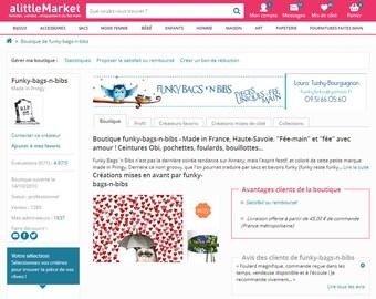 Lorella Creations, aka FUNKY BAGS ' n BIBS for intimate, customers & creators Alittlemarket.com