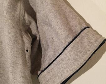 Vintage baseball jersey, 1940s or 1950s, wool or wool blend - Leroy high schoo