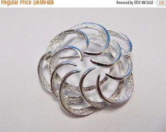 ON SALE SARAH Coventry Vintage Dual Textured Swirling Design Pin Item K # 638