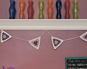 Granny Triangle Bunting - Crochet PATTERN PDF ONLY