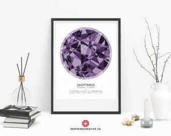 SAGITTARIUS Zodiac Constellation Poster - Abstract Modern Art Gallery Quality Giclée Print- Astrology and Horoscopes art print