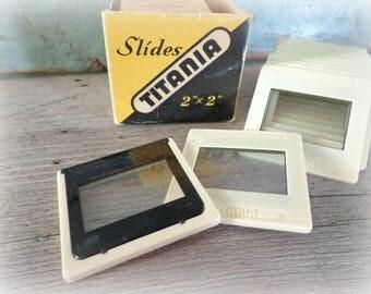 vintage film projector slides blank slides box titania 2 x 2 slides slide projector vintage camera vintage slides transparencies supplies