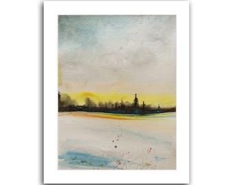"ORIGINAL Watercolor Painting 10""X8"" Original Art Watercolor painting Modern art Landscape painting by Tatjana, Christmas Gifts"