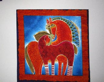 "Fantasy Horses 6"" Iron On Patch"
