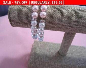 Pretty rhinestone bead bracelet,vintage bracelet, hippie, boho