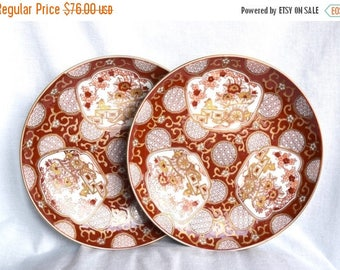 Vacay SALE...ships 7/8... Vintage Gold Imari plates…hand painted Japanese plates...red and gold plates...Arita.