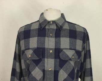 Big Check Thick Flannel Shirt