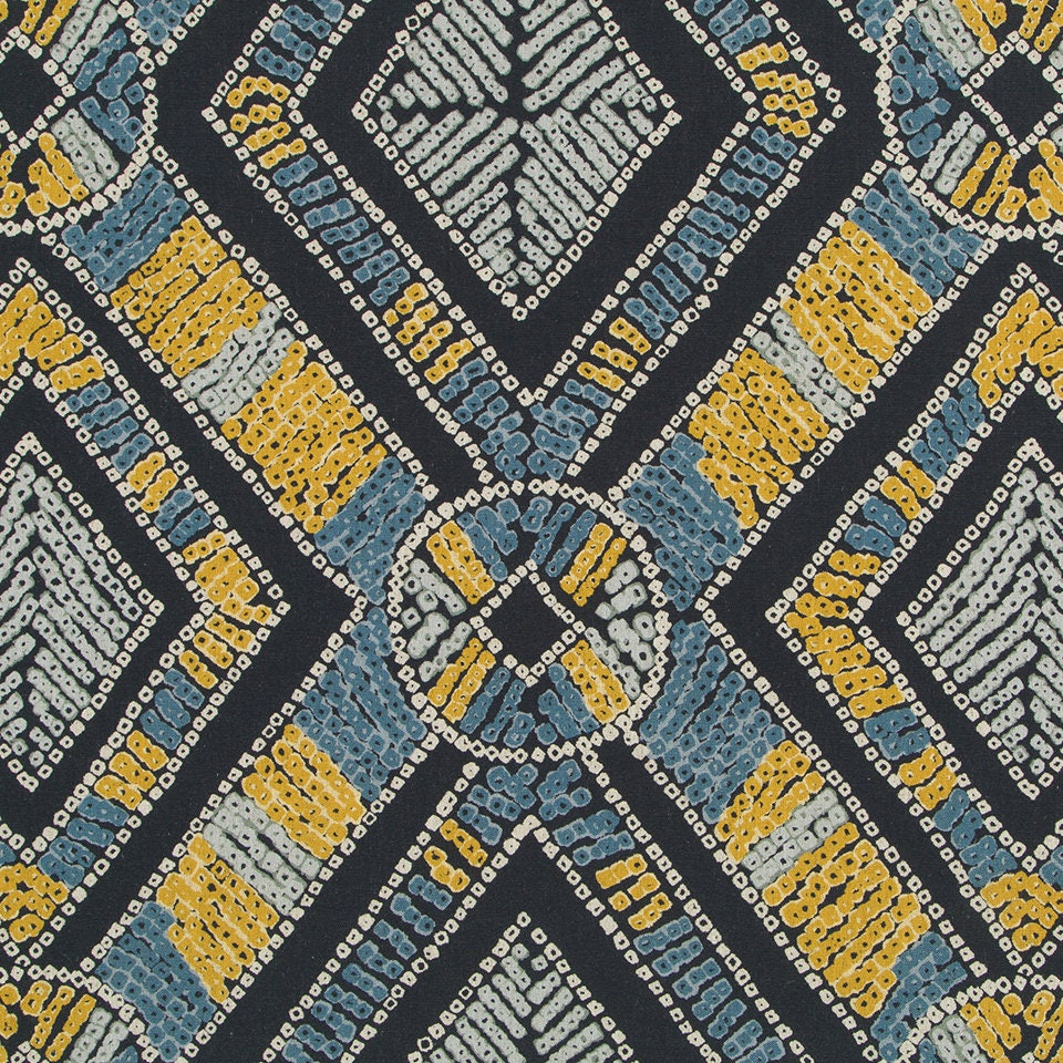 Navy Blue And Yellow Curtains: Navy Yellow Upholstery Fabric Modern Blue Yellow Curtains
