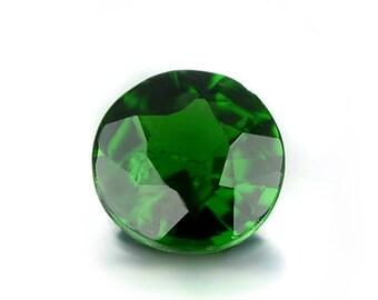 0.36ct Chrome Green Tourmaline 4.6mm Round Shape Loose Gemstones (Watch Video) SKU 609C005