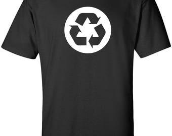 Recycle Symbol Circle Logo 100% Cotton T-Shirt