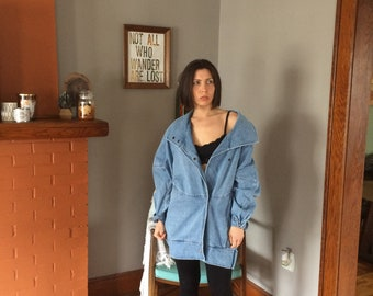 Vintage Unbranded Oversize Button Up Denim Jean Jacket