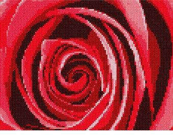 Needlepoint Kit or Canvas: Inside A Rose 2