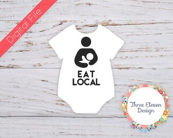 Eat Local Printable Iron On