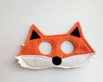Felt Orange Fox Mask for Kids