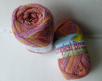 Sale Pedi Passion Tropical Breeze Sock Yarn by Mary Maxim