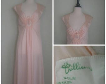 Summer Clearout Vintage 1960's Nylon Peach Dream Nightgown