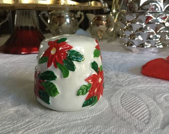 Christmas Holiday Orphaned Poinsettia  Collectable Salt or Pepper Shaker