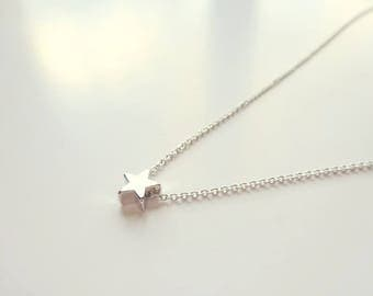 Tiny Star Necklace Delicate Silver Necklace Jewelry Gift For Her Bridesmaids Jewelry, Small Star Necklace, Tiny Silver Necklace, Women Gift
