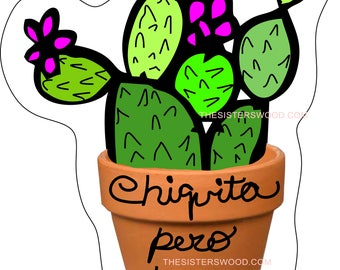 CHIQUITA PERO PICOSA Cactus 1 Instant Download Clip Art for Stickers, Decals, Planners