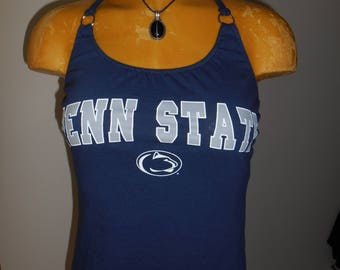 Penn State Nittany Lions halter top Reconstructed DIY College Football