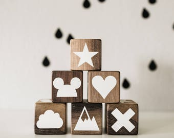 Wooden Block with graphics
