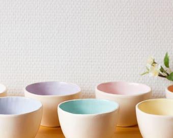 Little bowls Pastels