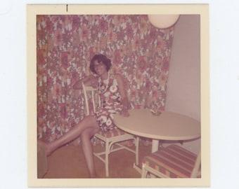 Suburban Camouflage, 1970s: Vintage Snapshot Photo (77594)