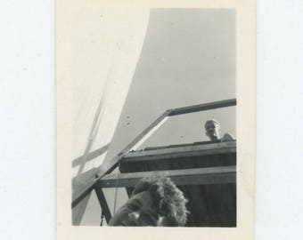 Vintage Snapshot Photo: Looking Up (712627)