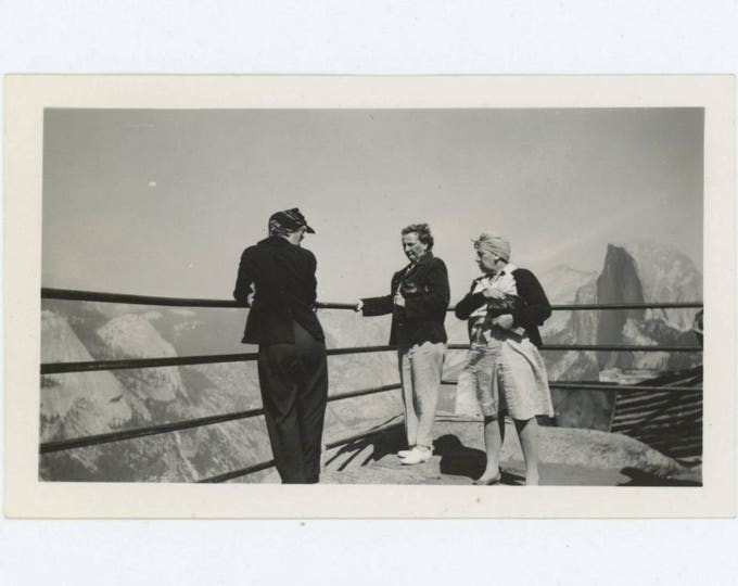 Vintage Snapshot Photo: On Top of the World, 1940s (610506)