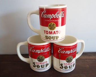 Vintage Campbells brand Coffee Cup, Campbells tomato soup mug, coffee bar decor,
