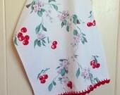 vintage wilendur cherry tablecloth tea towel