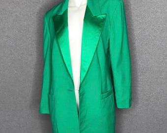 LOUIS FERAUD Vibrant Green Blazer Size: 10