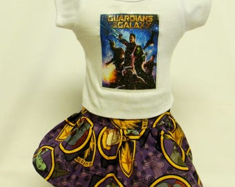 Guardians Of The Galaxy Theme Outfit  For 18 Inch Doll Like The American Girl