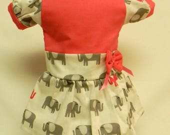 Elephant Print Dress For 18 Inch Dolls Like The American Girl