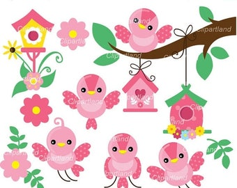 ON SALE INSTANT Download. Cb_4_bird. Bird clip art. Personal and commercial use.