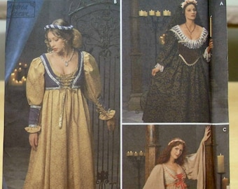 Free shipping! Simplicity 8192 Renaissance costume dress pattern 16 18 20 UNCUT