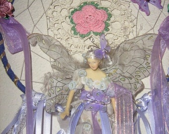 ON SALE Fairy Princess Child's Dream Catchers, come with a Child's Vintage Story Book, your choice of, Lavender,Hot Pink,or Blue